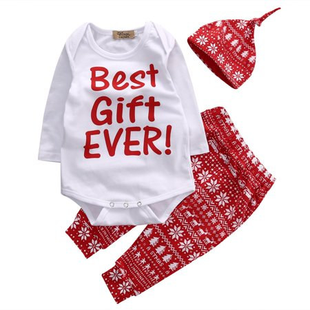 My 1st Christmas Baby Boys Girls Clothes Outfits Newborn Romper Tops Pants