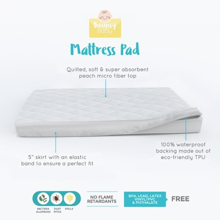 bouncy baby pack n play mattress cover hypoallergenic soft