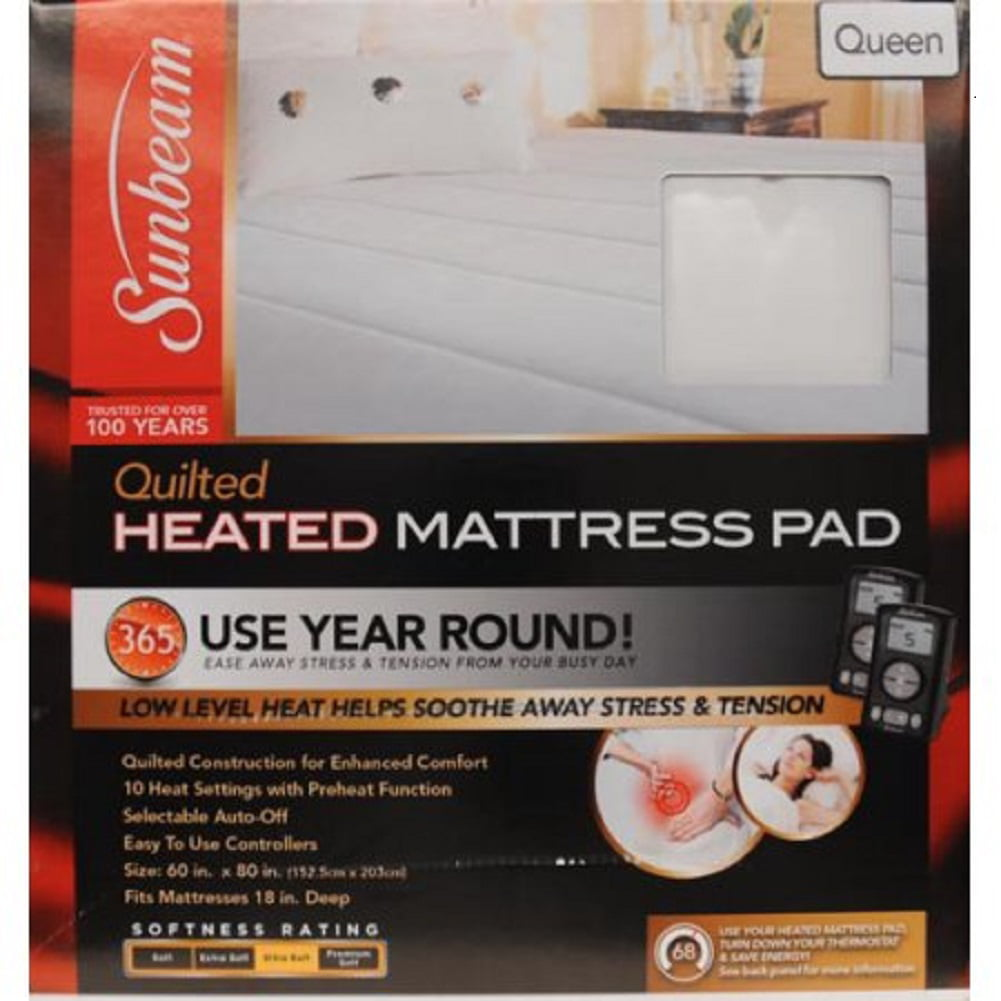 sunbeam mattress pad - walmart