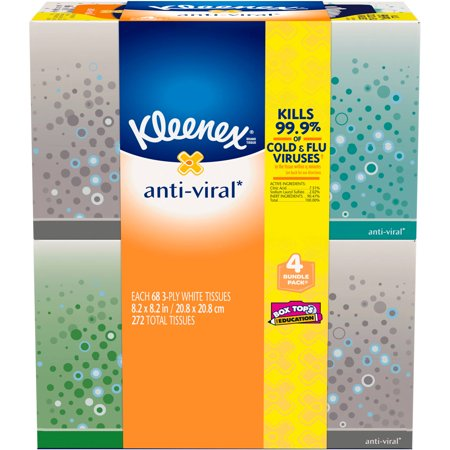 Kleenex Anti-Viral Facial Tissue - 4pk/68ct
