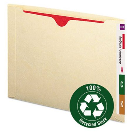 Smead Recycled End Tab Flat File Jacket, Letter, Manila, 50/Box