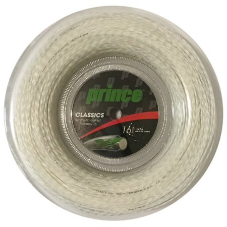 Prince Synthetic Gut with Duraflex 16 Tennis String 660 ft Reel- White