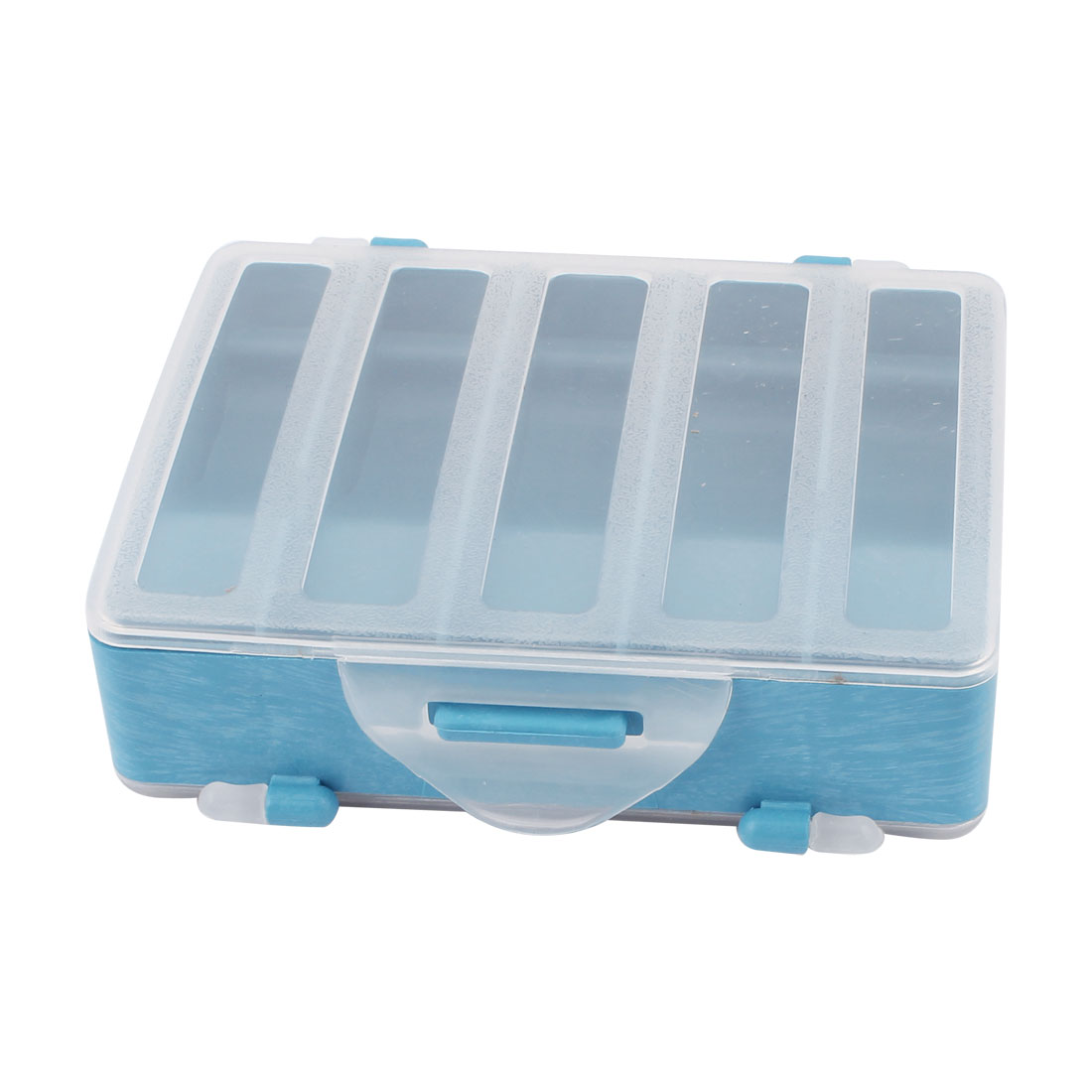 Unique Bargains Double Sides 10 Compartments Fishing Tackle Box Hook Lure Case by