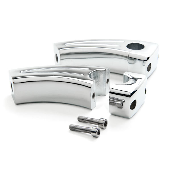 "Krator 3.5"" Chrome Bike Handlebar Pullback Risers 7/8"" For Kawasaki ZR1000 ZR1200 ZRX"