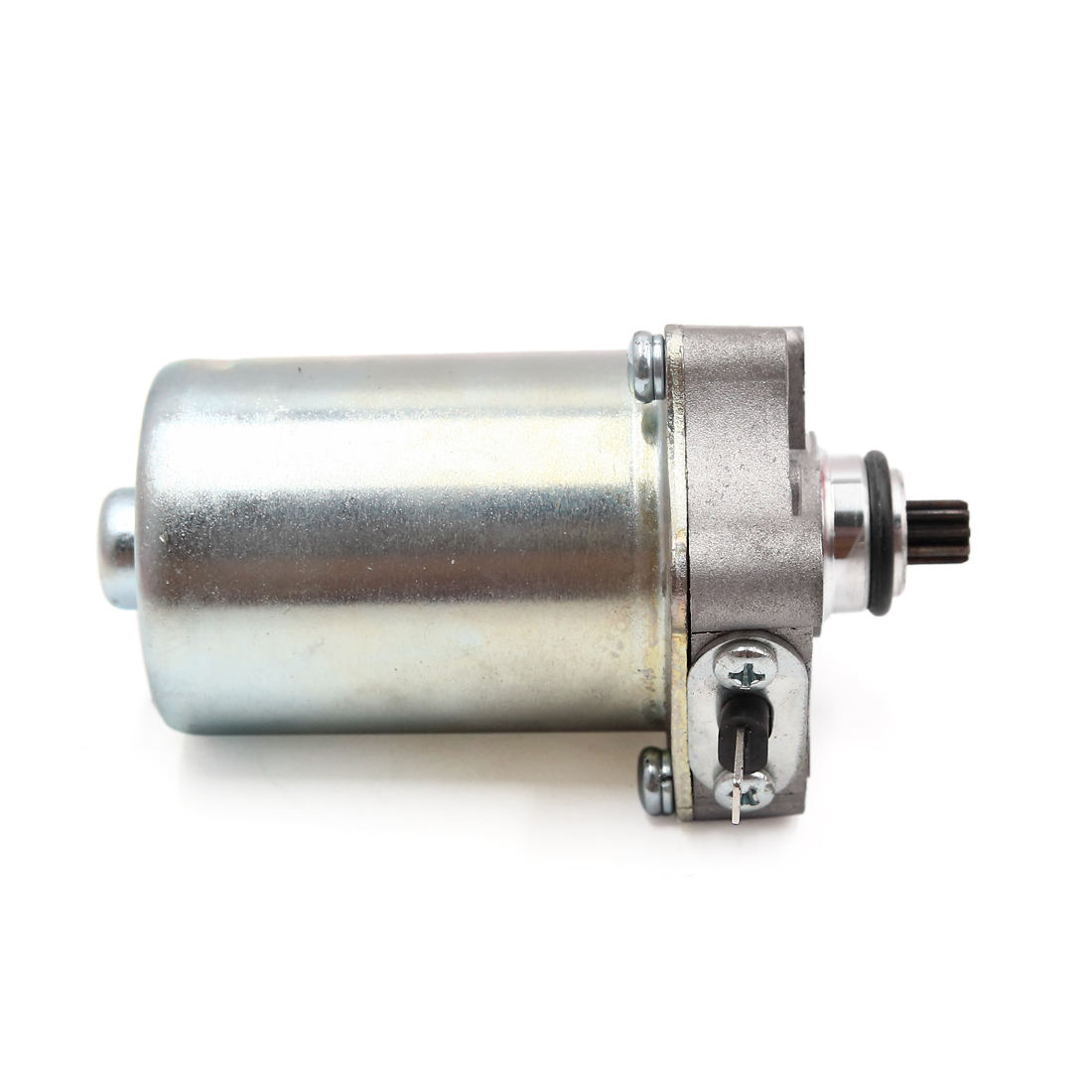 Silver Tone Metal Motorcycle Motorbike Engine Power Starter Motor for WH-100 - image 2 of 3