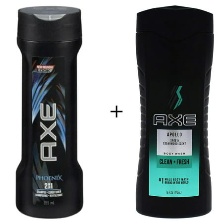 2 in 1 Phoenix Shampoo by Axe & Conditioner 355 ML & Body Wash for Men, Apollo 16 oz by AXE - image 1 de 1