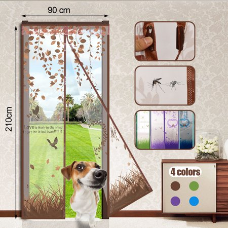 New Magnetic Snap Door Curtain Window Mesh Fly Bug Insect Mosquito Screen Net Guard 4 Colors ()