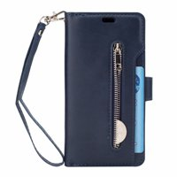 For Samsung Galaxy S8plus Wallet Leather Case Multifunction Shockproof Zipper Card Pocket Stand Cover