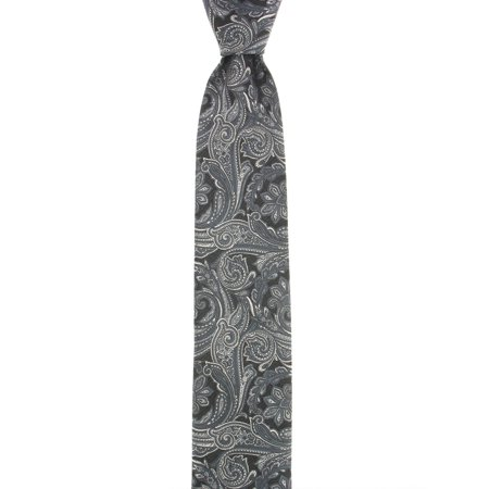 Geoffrey Beene Men's Black & Gray Paisley Tie