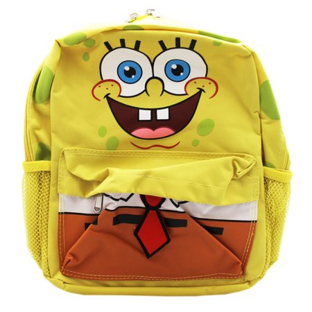 Spongebob Squarepants Face and Clothes Yellow Small Kids Backpack (12in)](Spongebob Accessories)