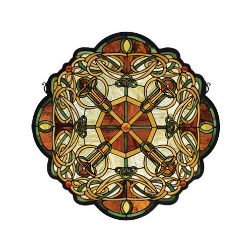 Meyda Tiffany Tiffany Mackintosh Nouveau Galway Medallion Stained Glass Window