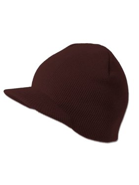 Product Image TopHeadwear Solid Cuffless Beanie Visor - Brown. Gravity f8ac3eb82faf