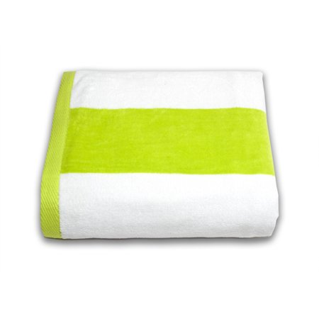 Tropical Cabana 100% Cotton Velour Wide Stripe Oversized Resort Beach Towel ()