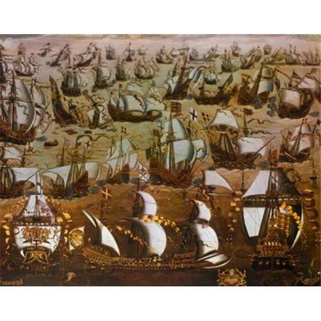 Posterazzi SAL900102140 English Ships & the Spanish Armada 1588 English School 16th Century Poster Print - 18 x 24 in. - image 1 de 1