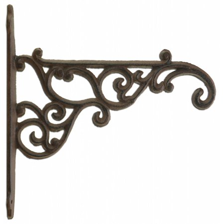 Diy Plant Hanger (Decorative Ornate Victorian Cast Iron Plant Hanger Hook - Rust Brown 8.375