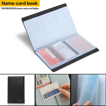 300 sheet business name credit card storage holder synthetic leather 300 sheet business name credit card storage holder synthetic leather book case wallet organizer office accessories colourmoves