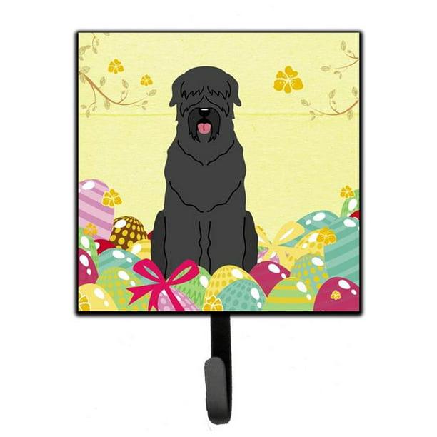 Carolines Treasures Bb6026sh4 Easter Eggs Black Russian Terrier Leash Or Key Holder Walmart Com Walmart Com