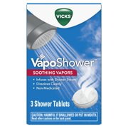 Vicks VapoShower Aromatherapy Shower Tablet Bomb, 3 Ct