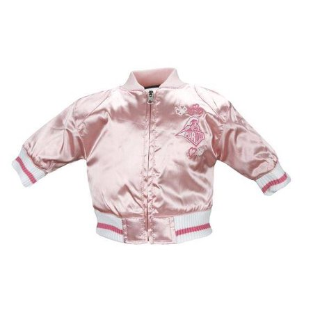 NCAA College Toddlers Purdue University Satin Cheer Jacket - - Pink Satin Jacket Cheap