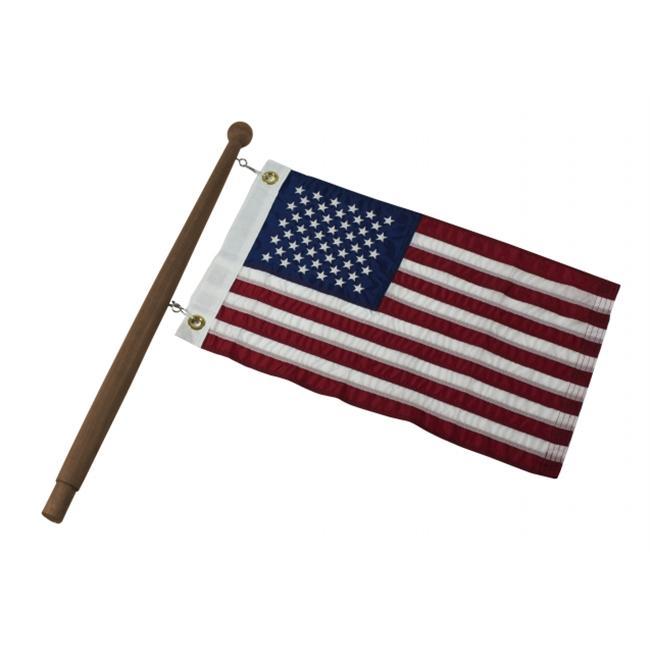 SeaTeak 60750 1'' x 24'' Flag Solid Teak Pole