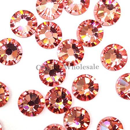 144 Swarovski 2028 / 2038 16ss HOTFIX crystal flatbacks ss16 ROSE PEACH A HF