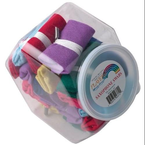 Players Products Rainbow A Sax Swab-24 Jar Multi-Colored by