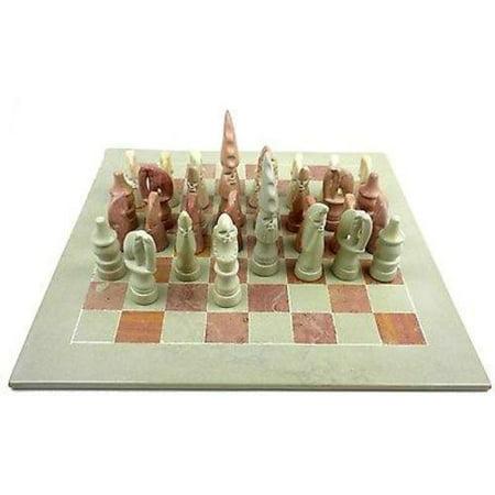 Hand Carved Soapstone Maasai Chess Set - 14