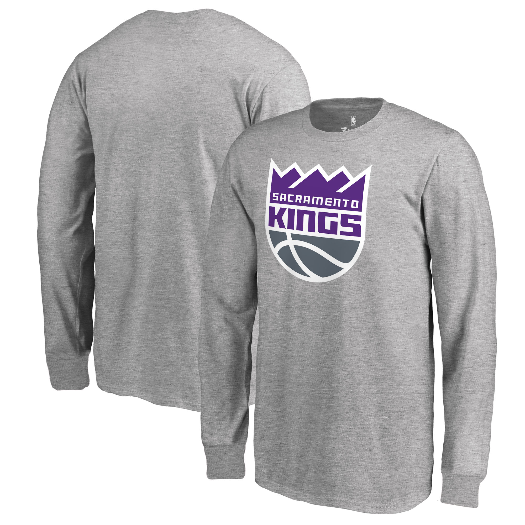 Sacramento Kings Fanatics Branded Youth Primary Logo Long Sleeve T-Shirt - Heathered Gray