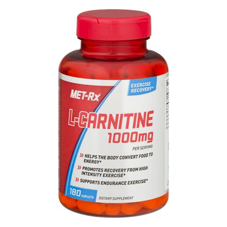 MET-Rx L-Carnitine Dietary Supplement, 1000mg, 180 (Best Pre Workout Supplement For Weight Loss)