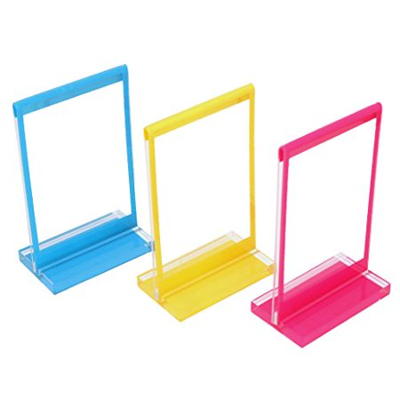 Polaroid 3 Standing Photo Frames  Colorful, Durable, Lightweight Plastic Frames With Bases -  For Zink 2x3 Photo Paper (Snap, Zip, (Lightweight Frame)