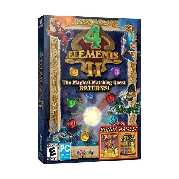 4 Elements II with Bonus Atlantis Quest & Brickshooter Egypt- XSDP -8097803 - In 4 Elements II, misfortune has befallen the magic kingdom again! A careless charm made the formerly wondrous ancien