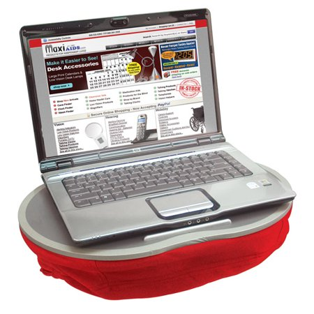 cushioned laptop lap tray red ergonomic with wide. Black Bedroom Furniture Sets. Home Design Ideas
