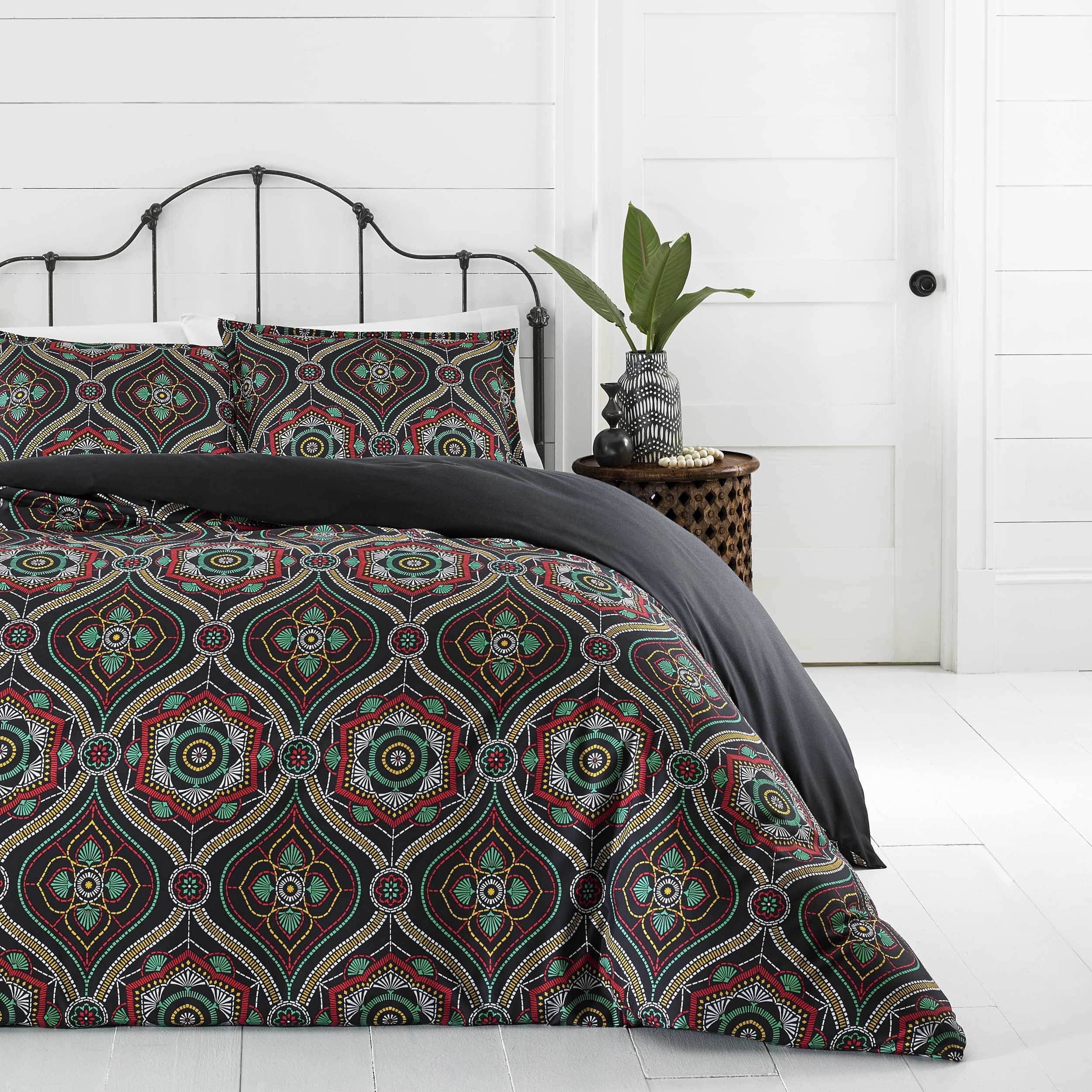 Azalea Skye Nairobi Ogee Multi Duvet Cover Set, Full/Queen