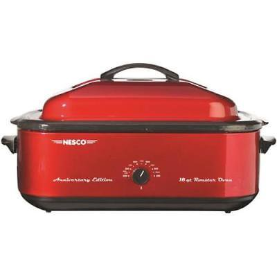 Nesco 18 Quart Electric Roaster Oven, Red ()