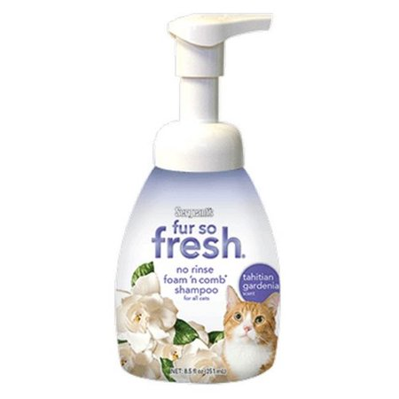 Sergents fourrure synthétique So Fresh No Rinse Tahiti Garden Cat 8,5 oz - aux shampooings cas de 6