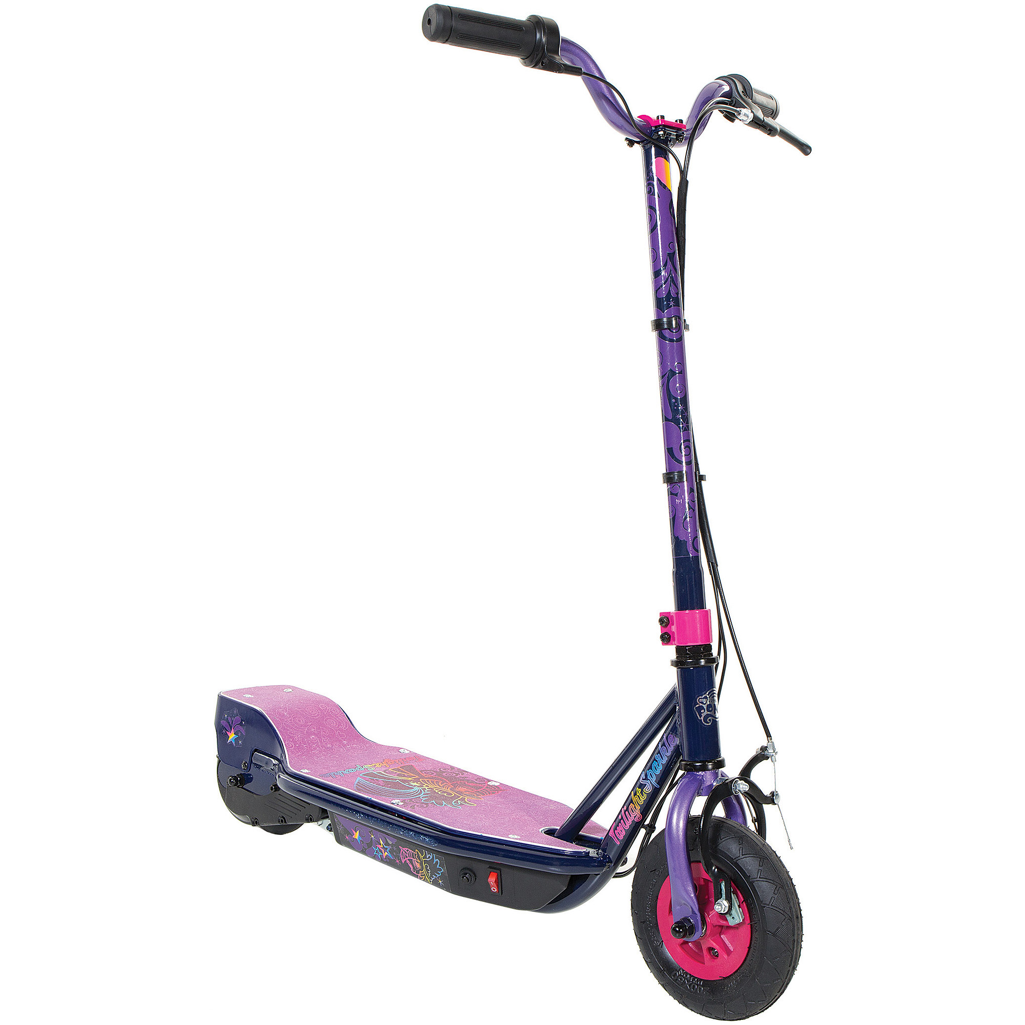 My Little Pony Girls' 24V Step-Up Electric Scooter, Purple by Dynacraft