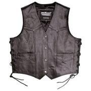 Mossi Mens Lace Up Vest Size 48 Black