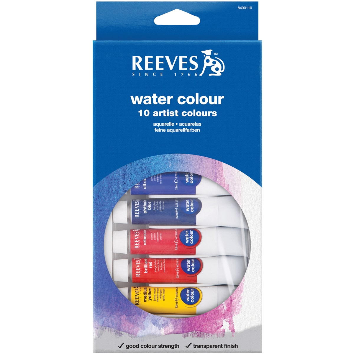 Reeves 8494250 Watercolor Paint 12-Set