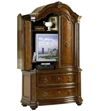 Homelegance Prenzo Tv Armoire Warm Brown