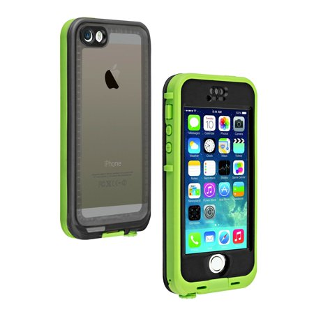 new concept 49e86 00b51 LifeProof Nuud Case for Apple iPhone 5/5S/SE - Lime/Smoke (Certified  Refurbished)