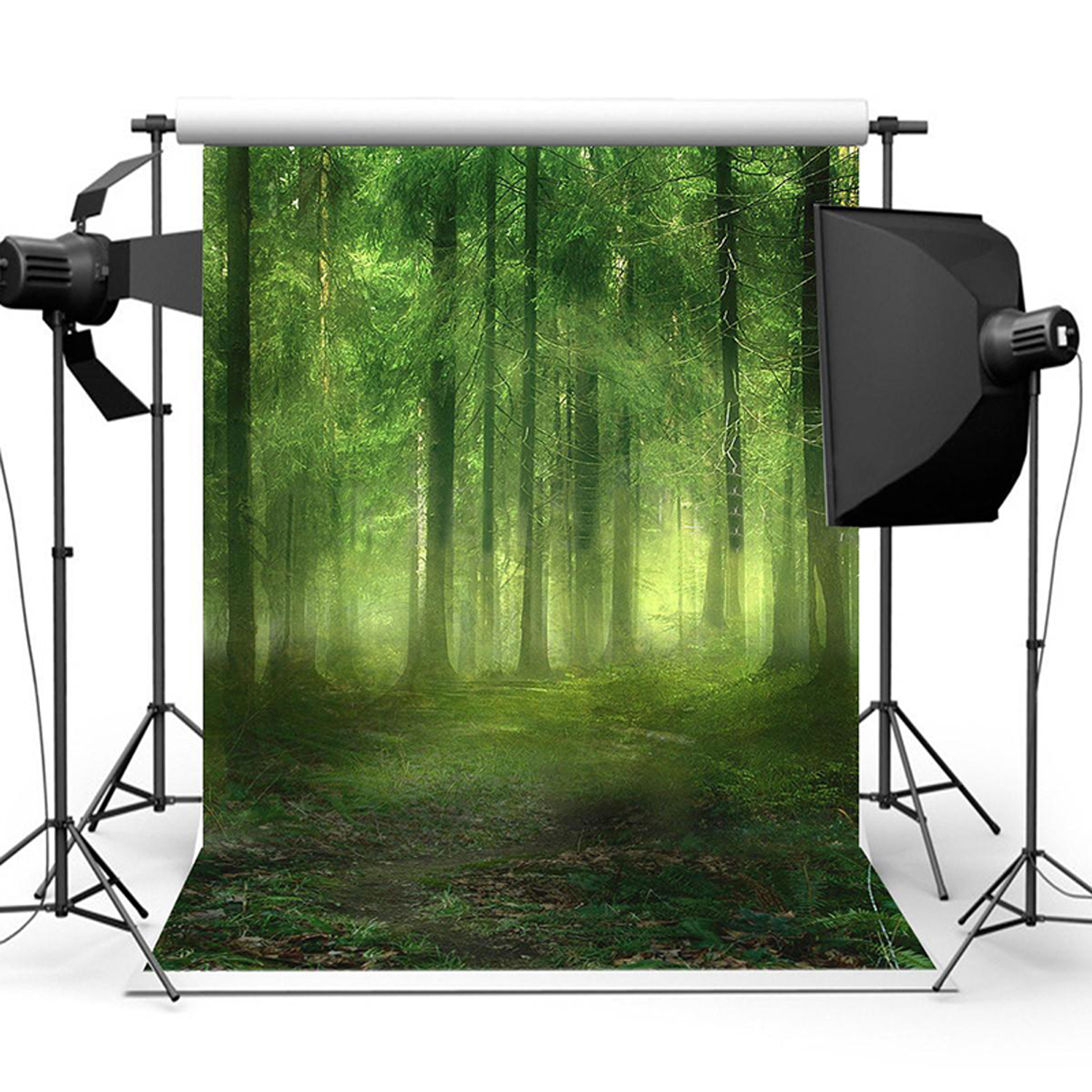 5x7ft Studio Photo Video Photography Backdrops Enchanted Forest Printed Vinyl Fabric Party Decorations Background Screen Props