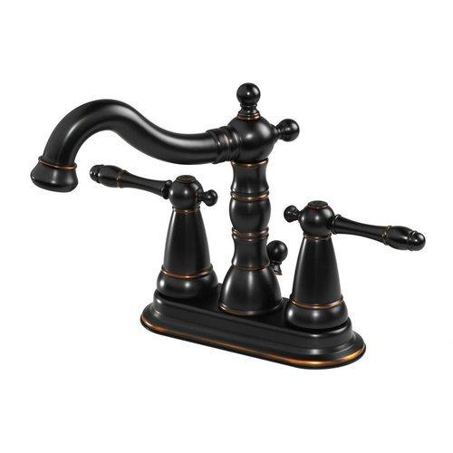 Aqueous Faucet Ballymore Victorian Double Handle Centerset Bathroom ...