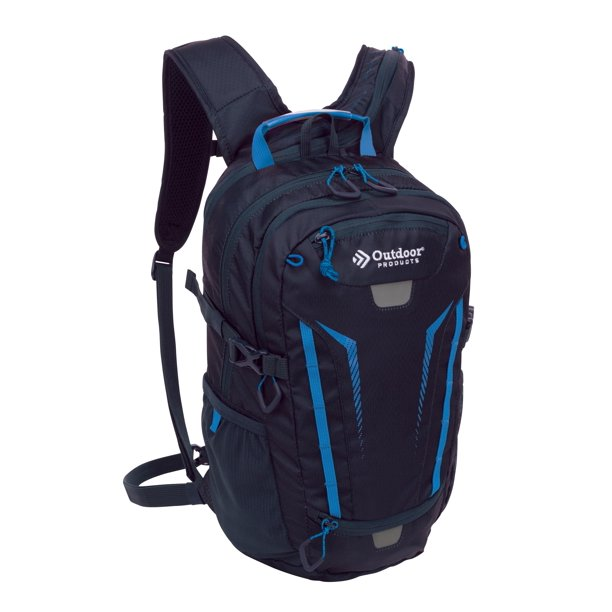 Outdoor Products Deluxe Hydration Pack Backpack with 2-Liter Reservoir, Blue