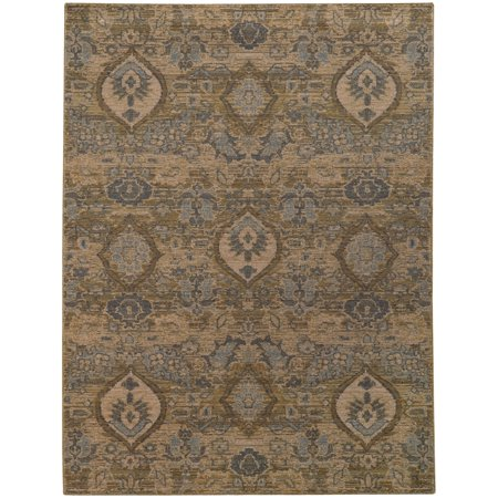 Style Haven Heirloom Floral Ikat Vintage Wool Area Rug - 3'10  x 5'5  A beautiful dense, low pile machine woven construction of premium wool that creates the look and feel of antique hand-knotted rugs. This showcases distressed, vintage patterns in subtle, cool grays and shades of blue.Machine-wovenPrimary materials: 100-percent woolLatex: NoPile height: 1 inchStyle: TraditionalPrimary color: BeigeSecondary colors: Blue, gold, greyPattern: FloralTip: We recommend the use of a  non-skid pad to keep the rug in place on smooth surfaces.All rug sizes are approximate. Due to the difference of monitor colors, some rug colors may vary slightly. Overstock.com tries to represent all rug colors accurately. Please refer to the text above for a description of the colors shown in the photo.Tip: We recommend the use of a  non-skid pad to keep the rug in place on smooth surfaces.All rug sizes are approximate. Due to the difference of monitor colors, some rug colors may vary slightly. Overstock.com tries to represent all rug colors accurately. Please refer to the text above for a description of the colors shown in the photo.Tip: We recommend the use of a  non-skid pad to keep the rug in place on smooth surfaces.All rug sizes are approximate. Due to the difference of monitor colors, some rug colors may vary slightly. Overstock.com tries to represent all rug colors accurately. Please refer to the text above for a description of the colors shown in the photo.
