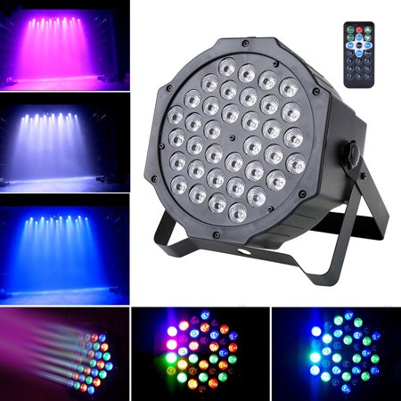 Par Lights 36 LED Remote and DMX Control Stage Party Lights Sound Activated RGB - image 7 of 7