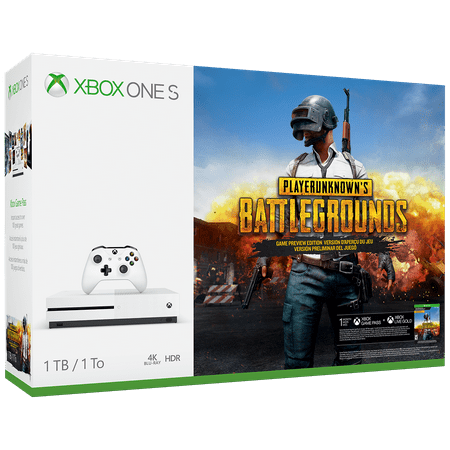 Microsoft Xbox One S 1TB PLAYERUNKNOWN'S BATTLEGROUNDS Bundle, White,