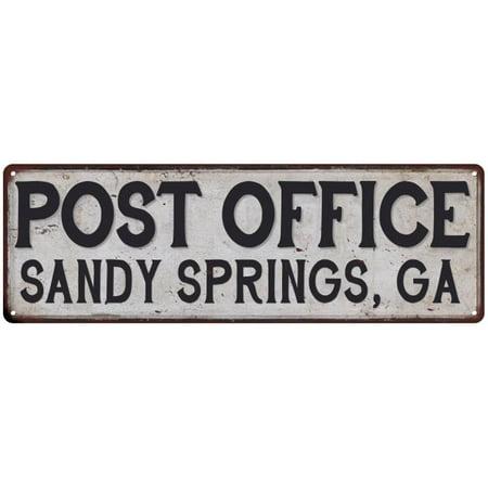 Sandy Springs  Ga Post Office Vintage Look Metal Sign Chic Retro 6182345