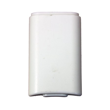 White Battery Pack Cover for Xbox 360 Wireless Controller by Mars Devices ()