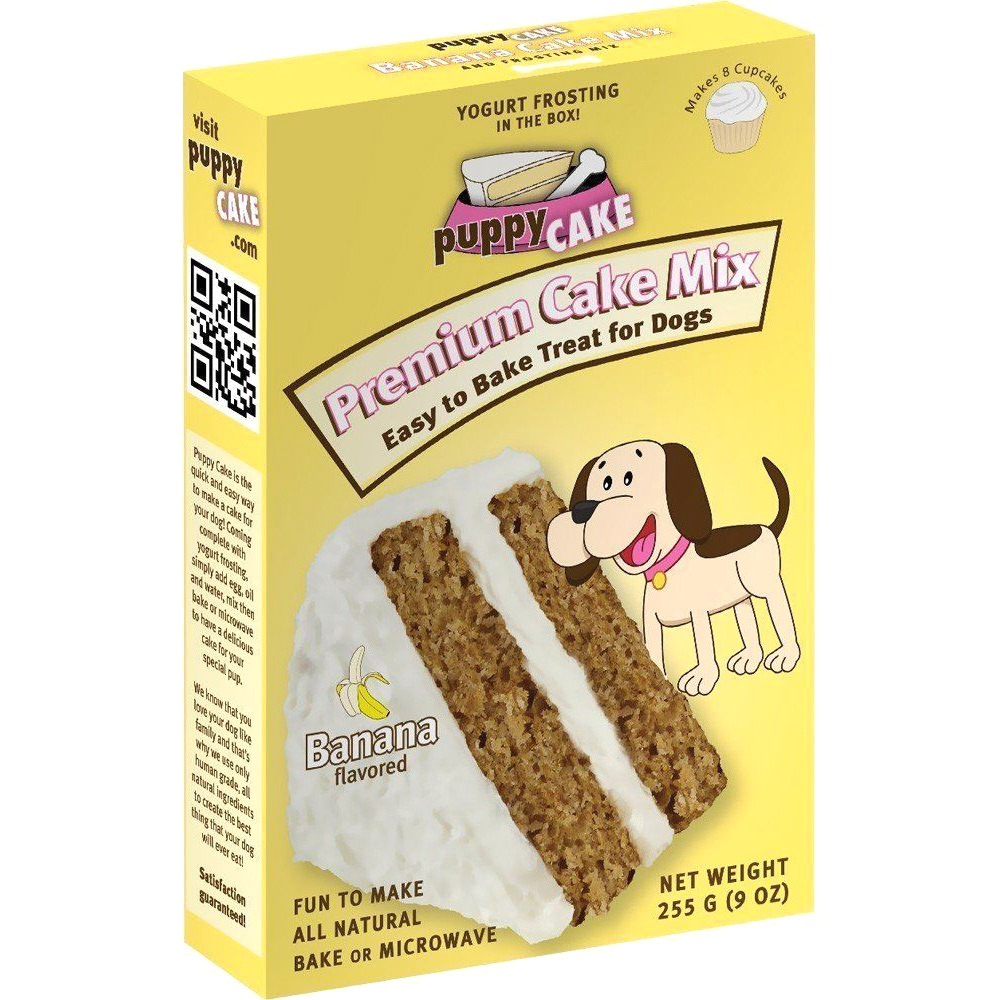 Puppy Cake Banana Cake Mix and Frosting