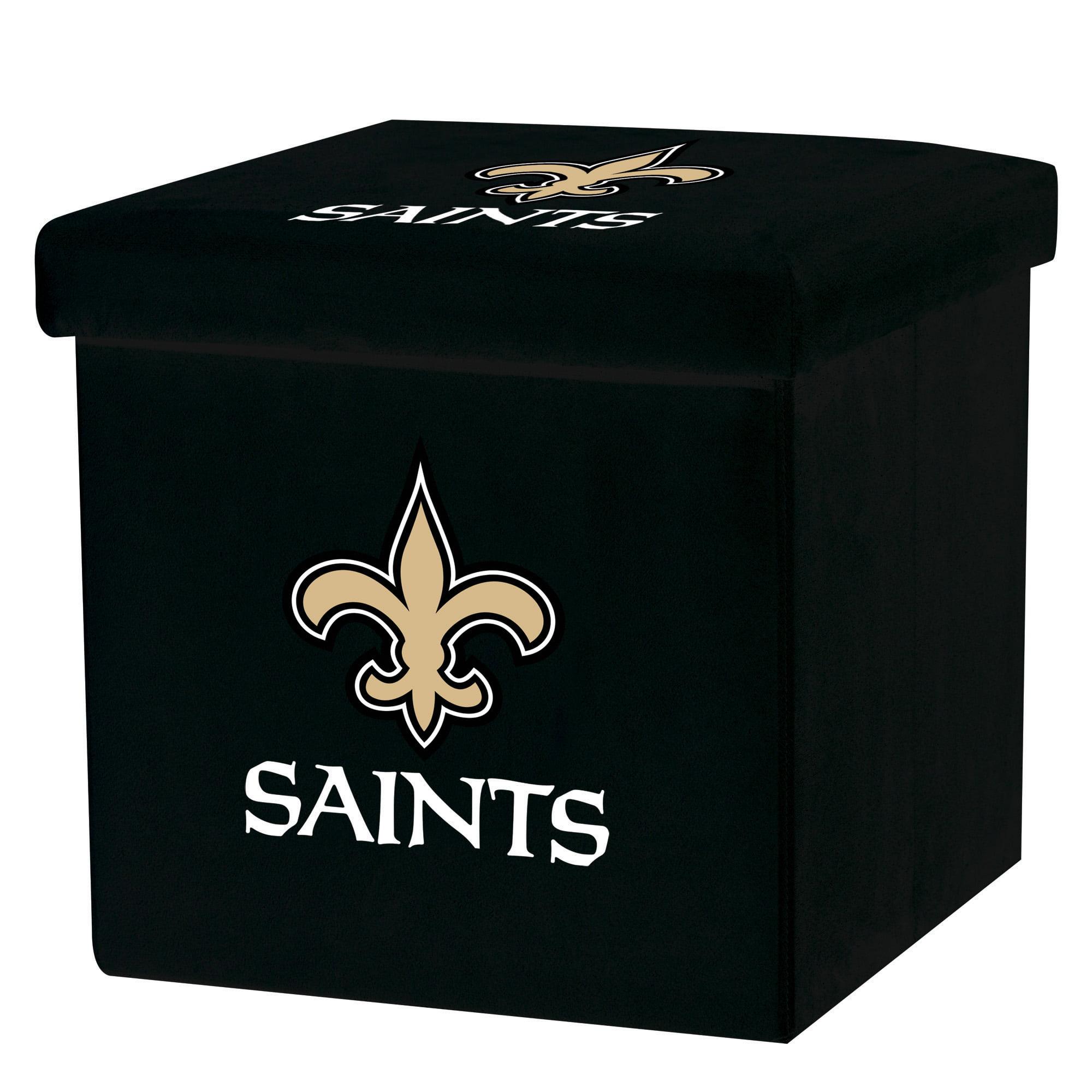 Franklin Sports NFL New Orleans Saints Storage Ottoman with Detachable Lid